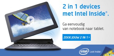 2 in 1 Intel Notebook en Tablet