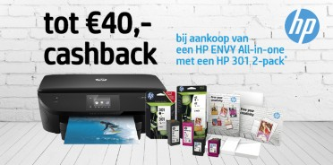 HP printer en inkt cashback