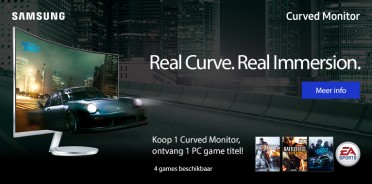 Samsung Curved monitor met gratis EA game