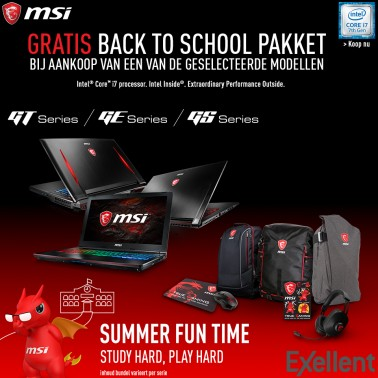 MSI Back to school