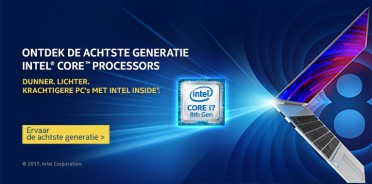 Notebooks met 8th gen Intel Core processor